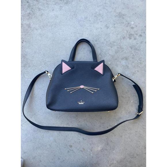 Kate Spade Cat's Meow Lottie Leather Satchel